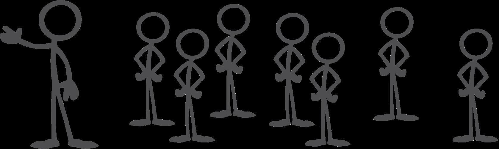 stick figure logo